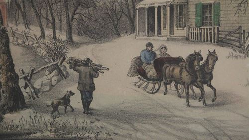 American Homestead Winter. Currier and Ives, c. 1868