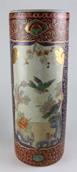 Japanese Porcelain Umbrella Stand