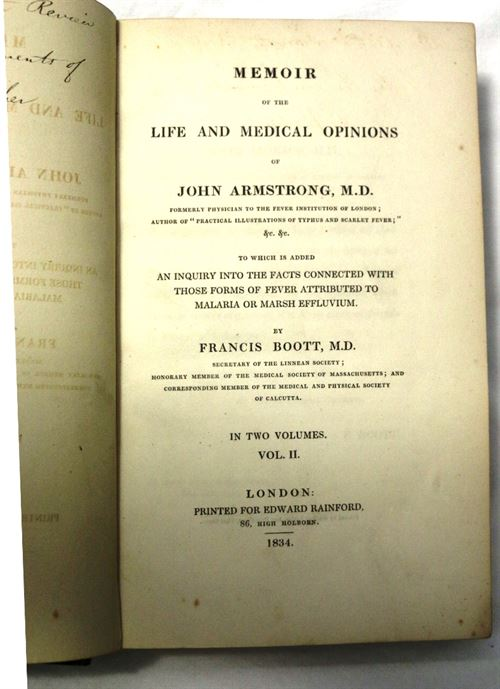 Memoir of the Life and Medical Opinions of John Armstrong