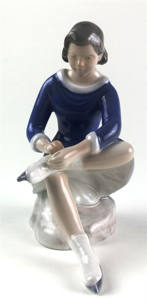 Bing and Grondahl Skating Girl Porcelain Figure